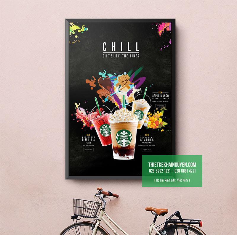 Ấn tượng với mẫu poster menu cho thương hiệu Coffee