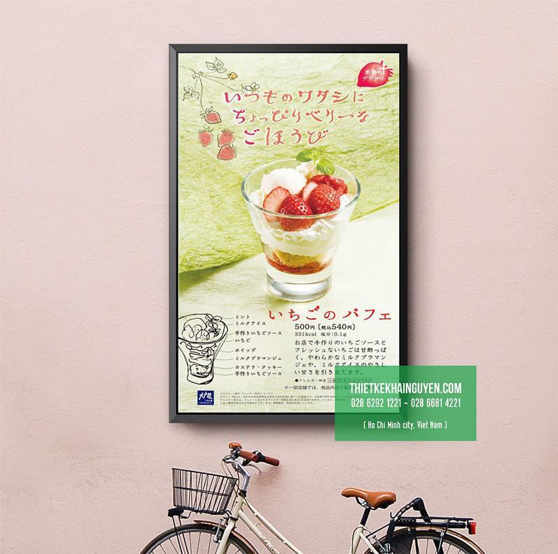 Một mẫu menu trang trí rất thú vị của người Nhật