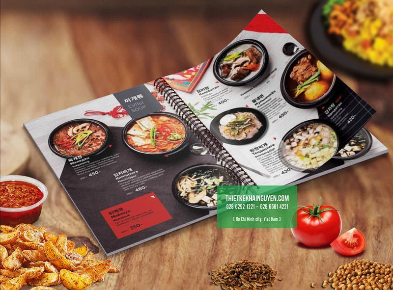 Thực đơn nhà hàng tại Hàn Quốc