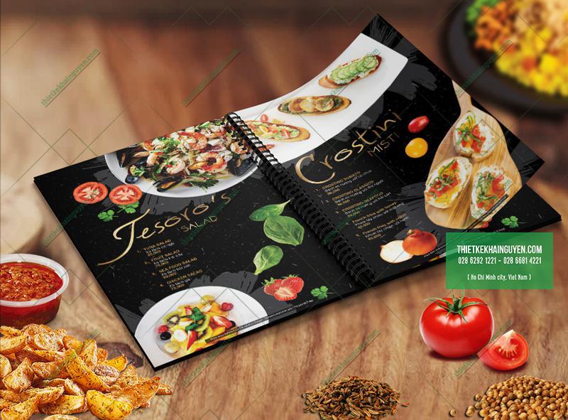 Thiết kế menu nhà hàng Tesoro