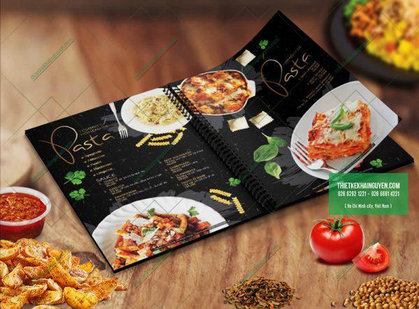 Thiết kế menu nhà hàng Âu đặc sắc