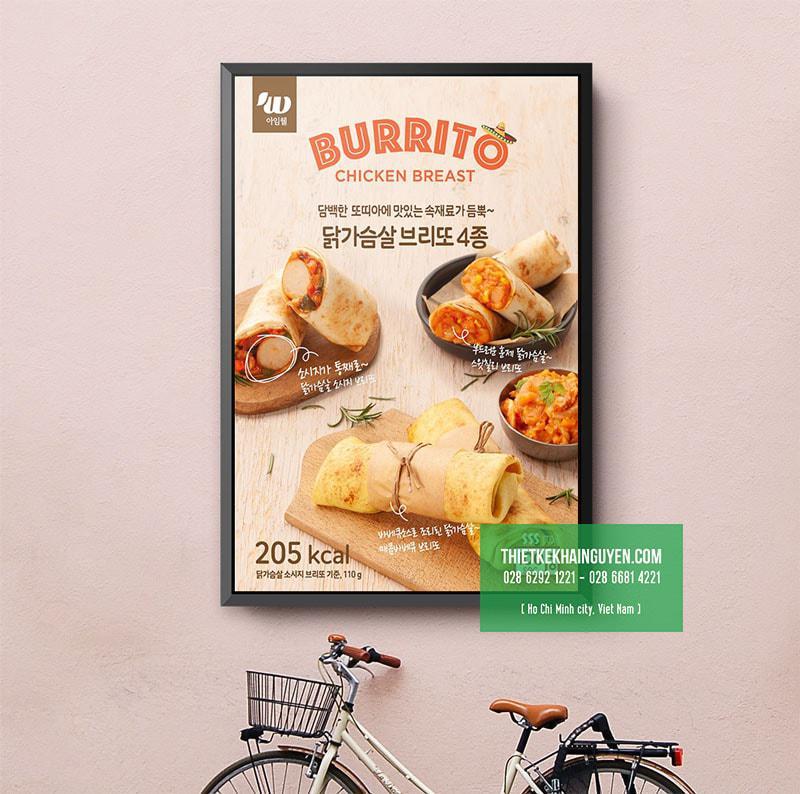 Ấn tượng với mẫu menu treo tường tại nhà hàng