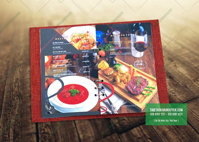 Làm menu gáy còng, menu bìa còng tại TPHCM