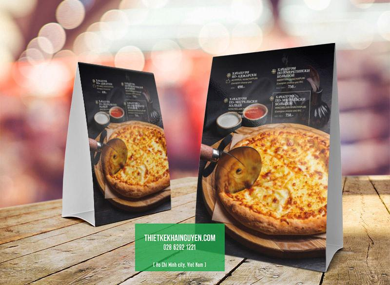 Pizza menu - menu chân chữ A