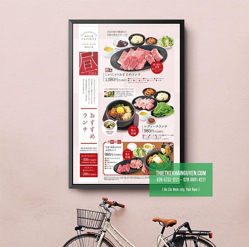 Thiết kế menu treo tường cho nhà hàng