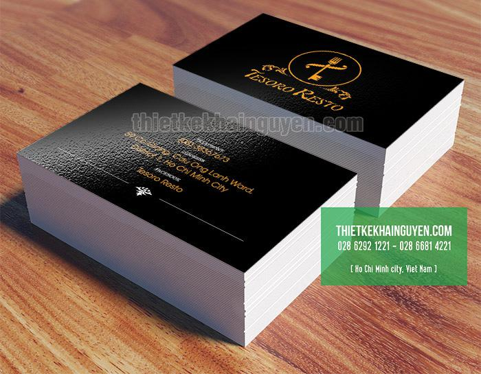Card visit, name card cho nhà hàng