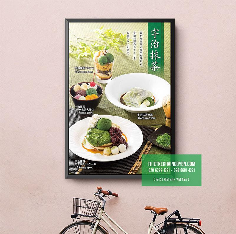 Mẫu thiết kế menu dán tường đẹp cho quán kem