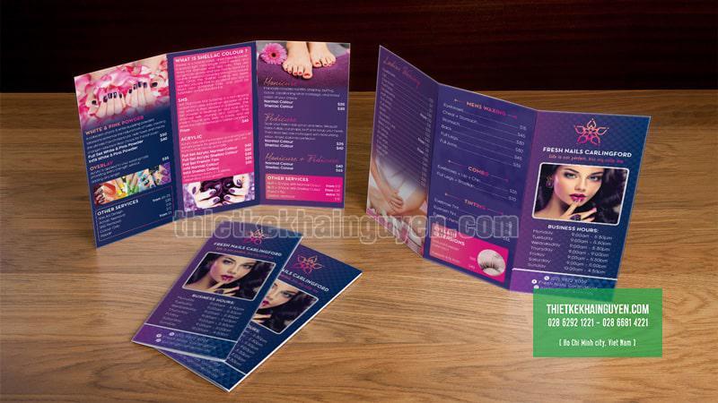 Fresh Nails - mẫu thiết kế brochure cho nails spa