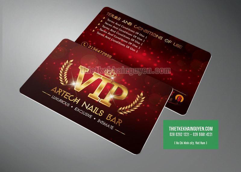 Artech Nails Bar - VIP card ấn tượng với design đỏ vàng