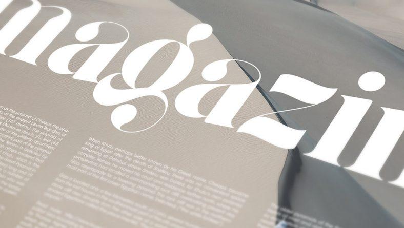 Giaza Font chữ thiết kế menu đẹp