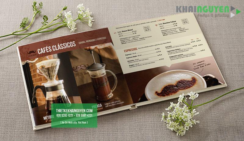 Thiết kế menu café - đơn giản nhưng cuốn hút hơn