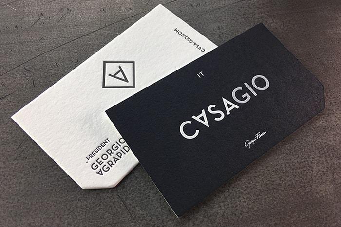In card visit cá nhân - card bo gốc thẳng