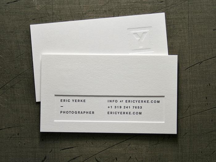 Name card bồi lõm - mẫu card cá nhân ấn tượng
