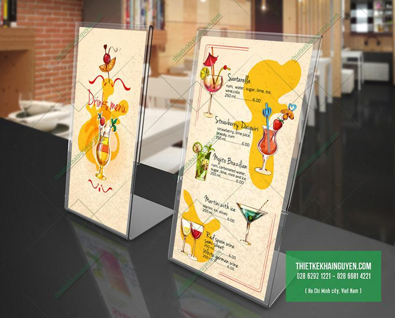 Tự thiết kế menu để bàn đẹp cho quán nước