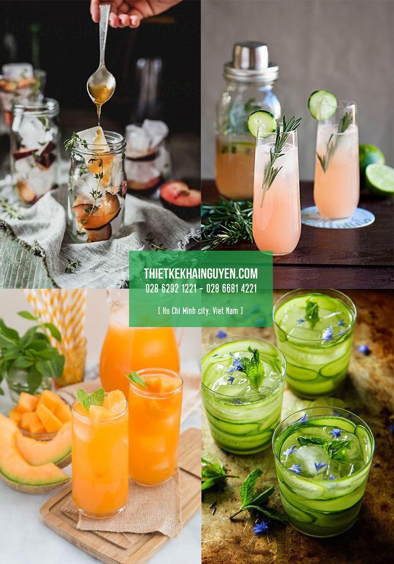 Hình chụp concept - hình ảnh món nước cho menu