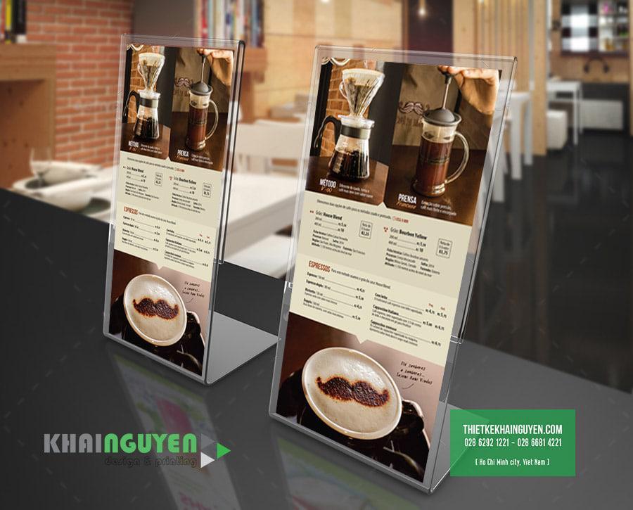 Mẫu thiết kế menu coffee đẹp một cách đơn giản