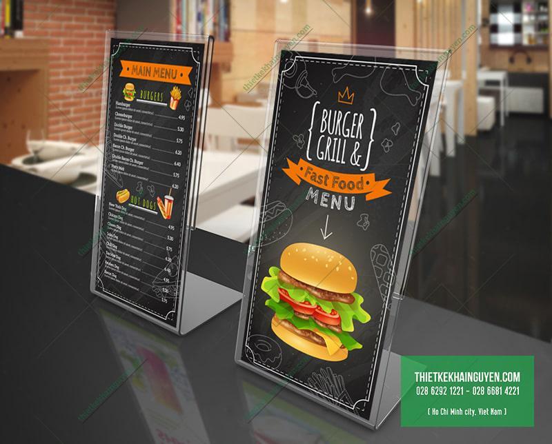 Menu quán thức ăn nhanh - fast food menu