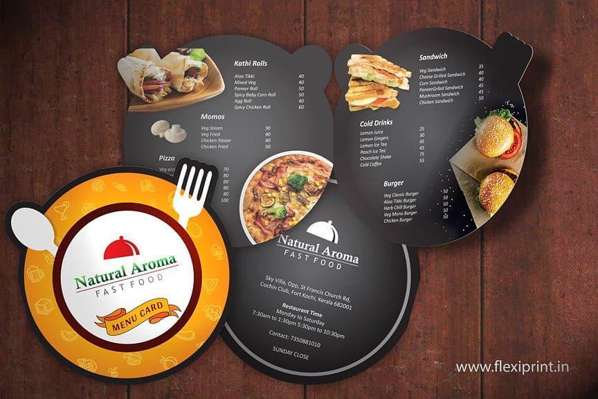 Pizza menu - ấn tượng hơn với hình dạng đặc biệt