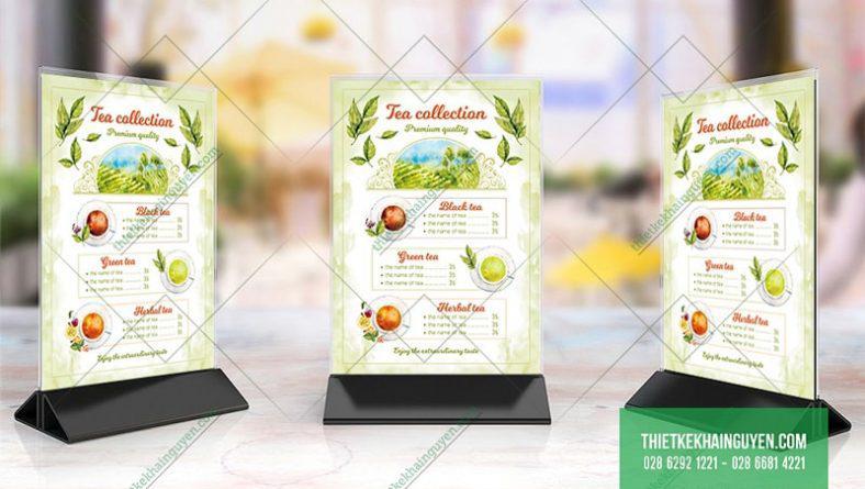 Template thiết kế menu để bàn miễn phí
