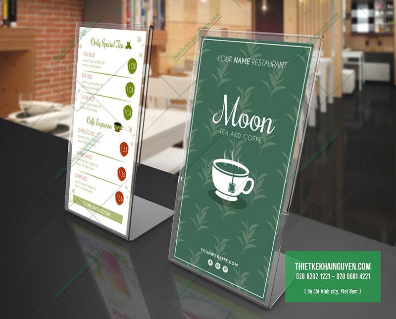 Moon menu với thiết kế xanh lá cây ấn tượng