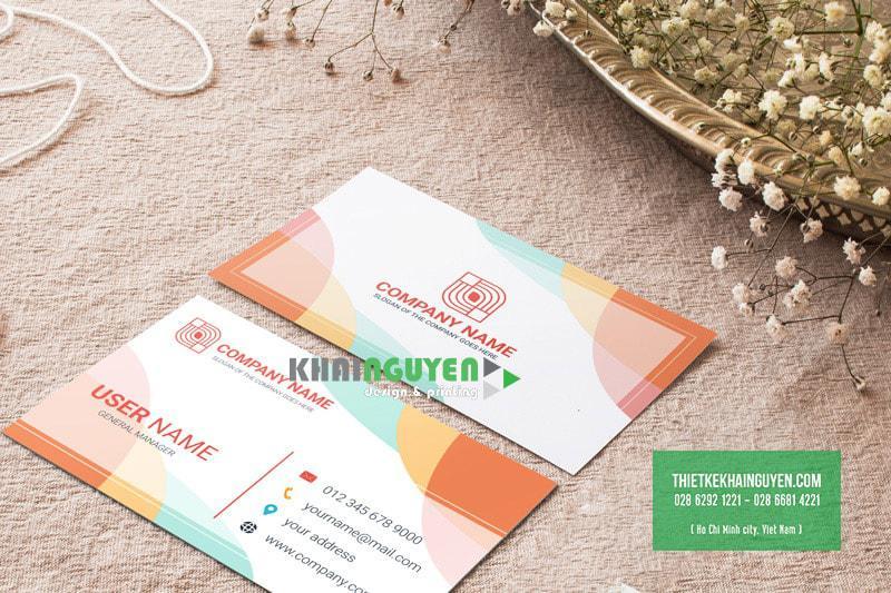 Mẫu thiết kế name card màu sắc sinh động