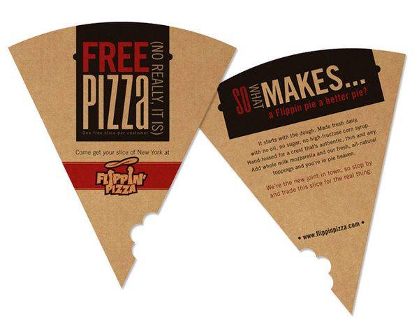 Die cut menu - menu hình dạng pizza đặc biệt
