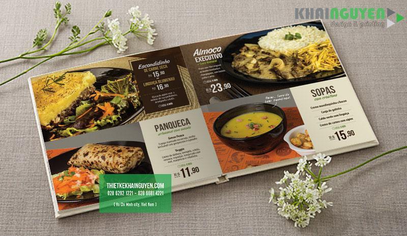 Những món ăn nhẹ cũng nên xuất hiện trong thiết kế menu cafe