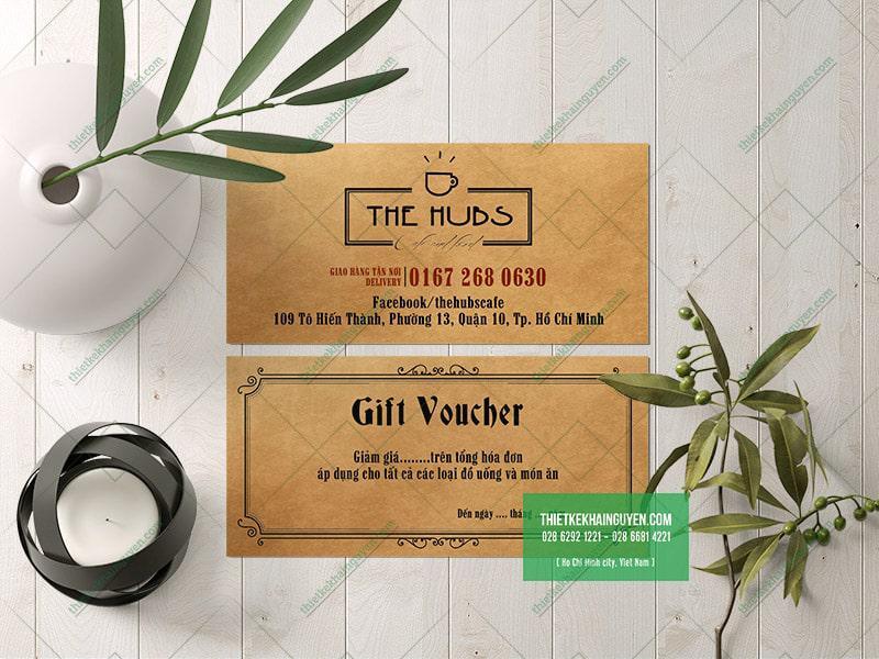 Gift voucher kraft - mẫu thiết kế voucher đơn giản