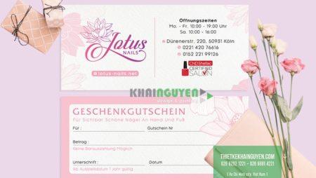 Thiết kế tiệm Nails (Lotus Nails tại Đức) – Hạng mục thiết kế in ấn mới.