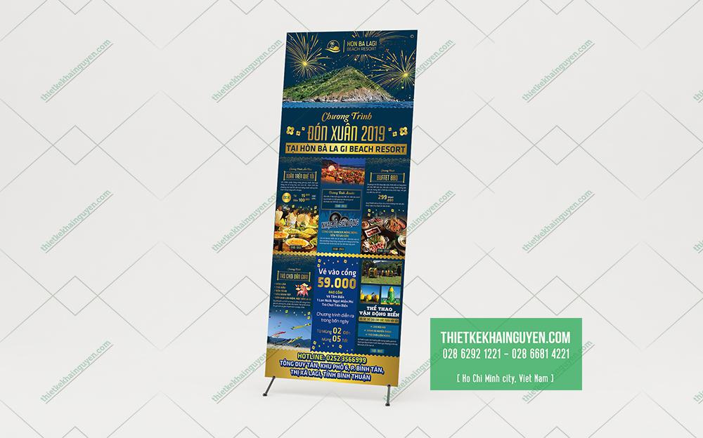 Mẫu thiết kế poster quảng cáo cho resort