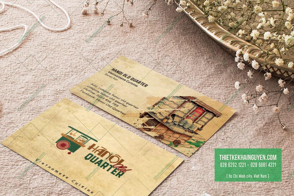 Thiết kế card visit nhà hàng - Hanoi Old Quarter