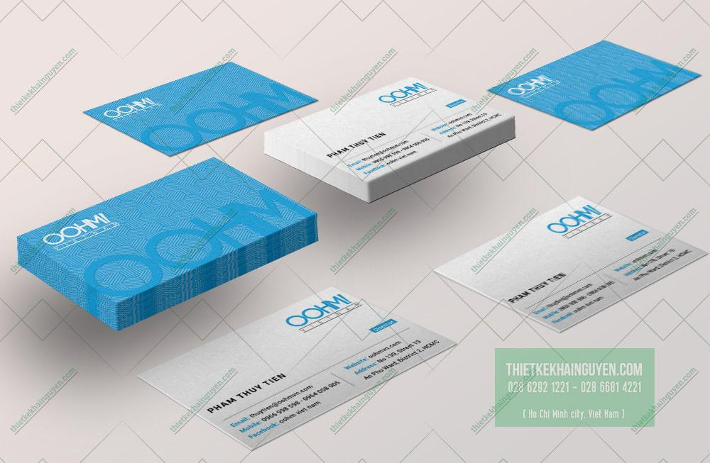 OOHM Name card công ty linh kiện điện tử viễn thông