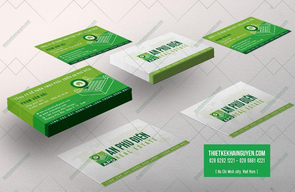 Mẫu card visit kinh doanh công ty  BĐS AN PHÚ ĐIỀN