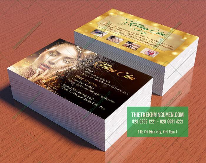 Mẫu card visit Hồng Cẩm Spa