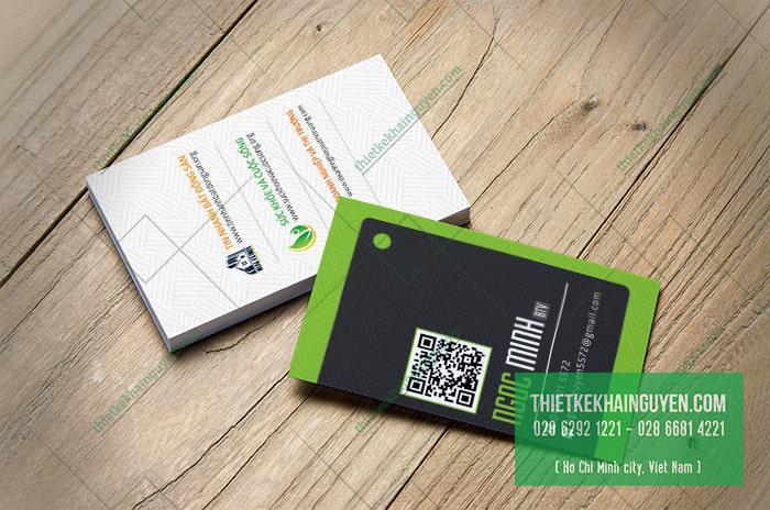 Mẫu card visit kinh doanh của ôcng ty xây dựng Minh Ngọc