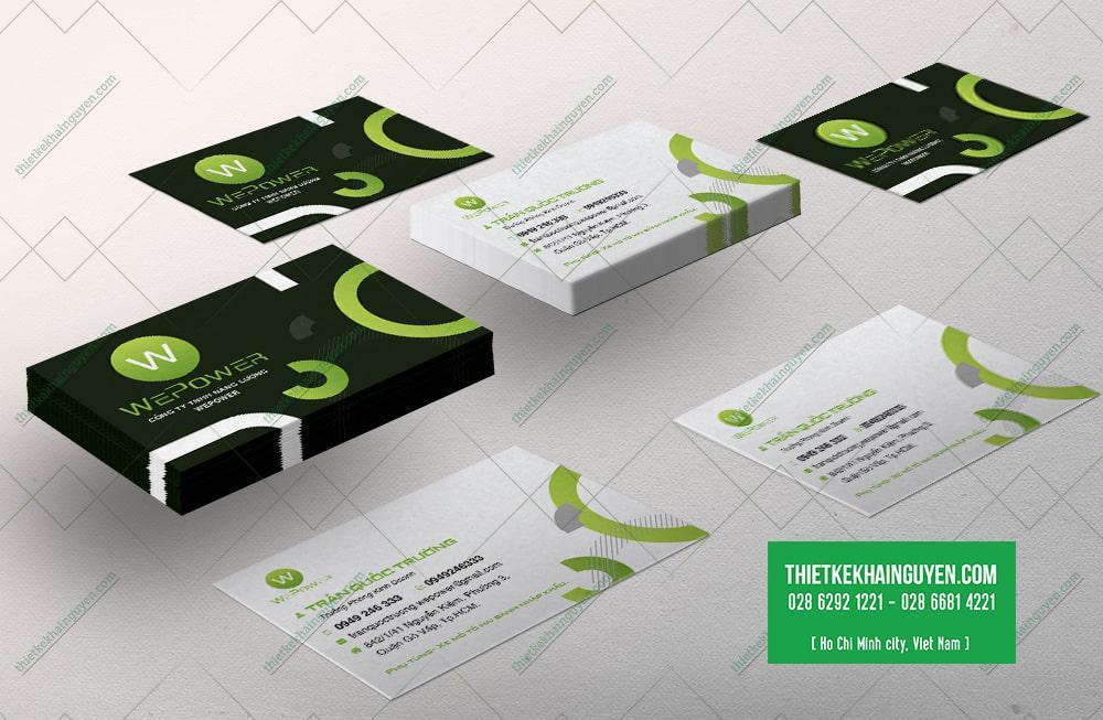 Card visit kinh doanh công ty Năng lượng  WePower