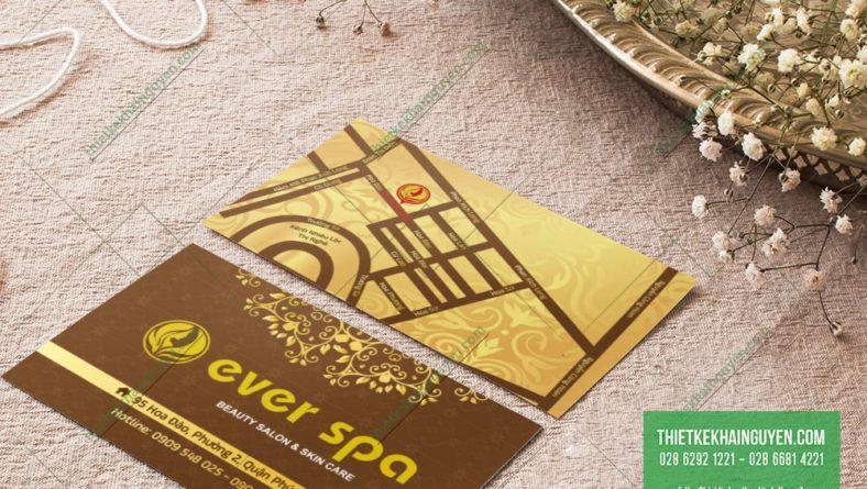 Thiết kế thương hiệu spa - Card visit cho spa