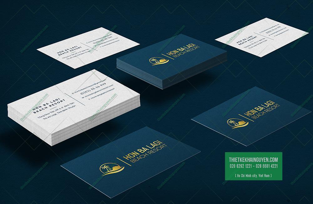 Name card cho resort với thiết kế hiện đại hiệu quả