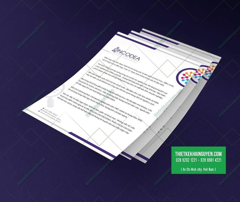 Giấy tiêu đề, letterhead được thiết kế đơn giản - thiết kế logo y học
