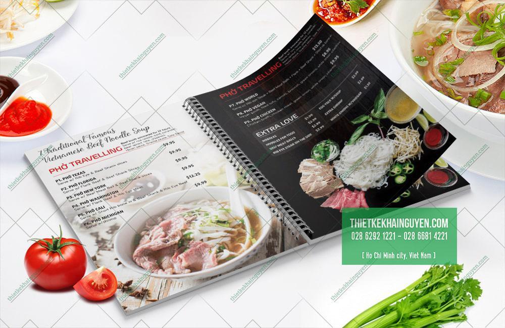 Mẫu menu phở đẹp - menu nhà hàng Mrs7Pho