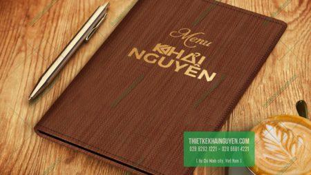 Mẫu bìa menu da lạ mắt – mẫu menu da mới nhất thị trường 2019.