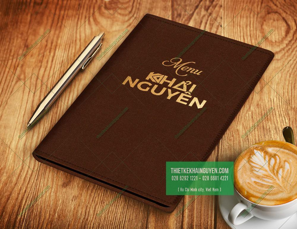 Bìa menu bằng Nhung - menu siêu mịn