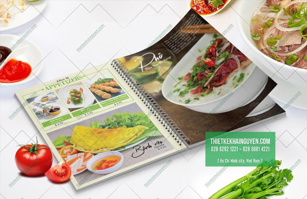 Ilove Phở - mẫu menu Phở được thiết kế rất chất phát