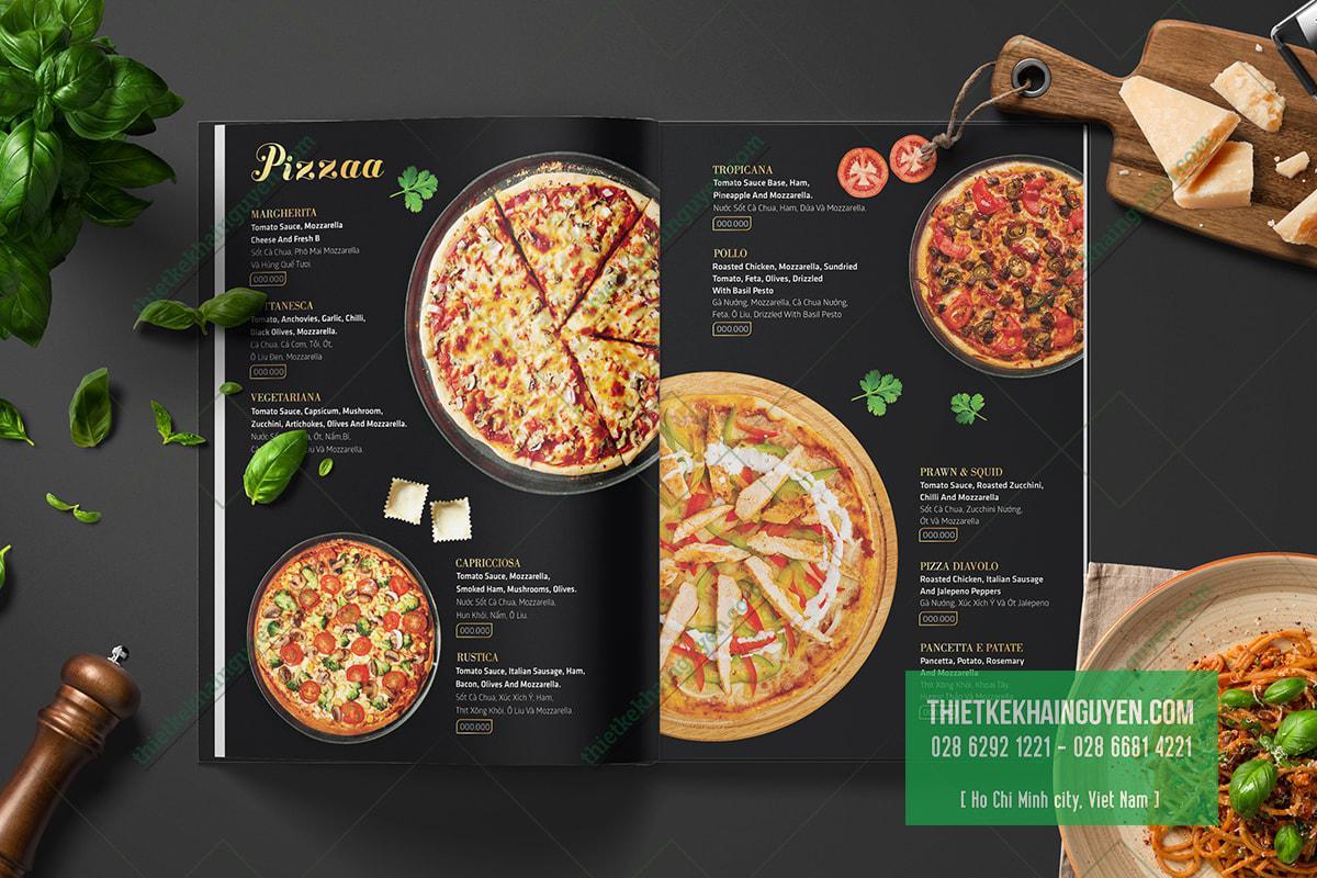 Menu Pizza cũng nổi bật không kém