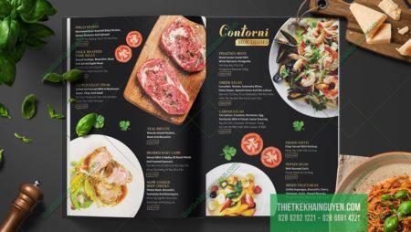 3 mẫu thiết kế menu tinh tế, đánh gục những vị khách hàng khó tính
