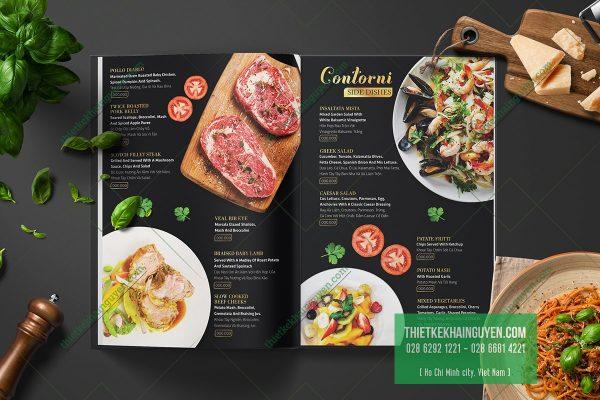 Thiết kế menu (thực đơn) độc quyền đẹp hoàn mỹ
