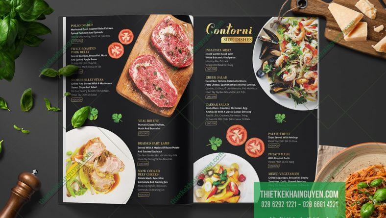 Mẫu thiết kế menu nhà hàng tinh tế