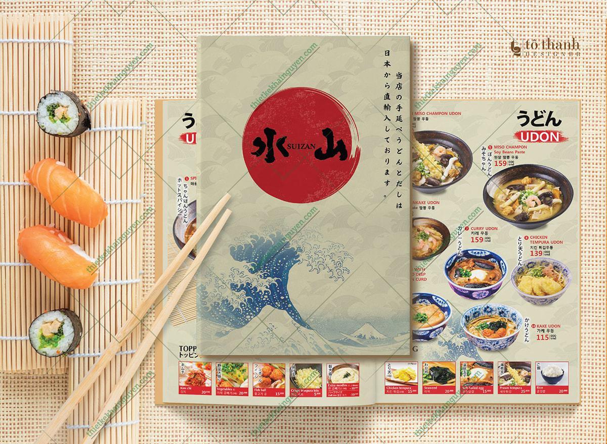 Thực đơn nhà hàng Nhật Zuizan