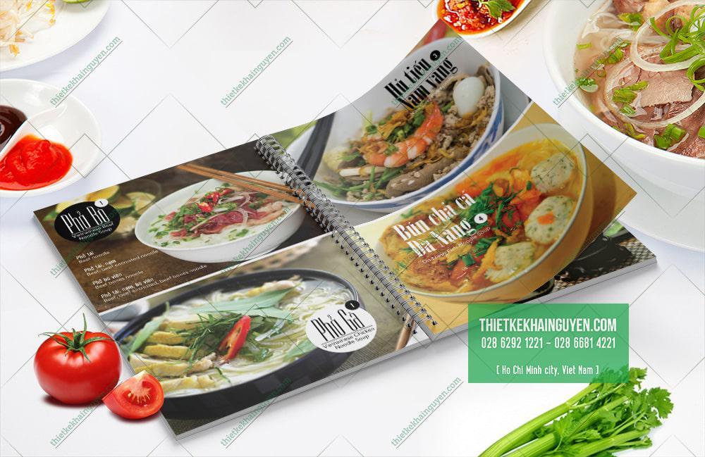 Thiết kế menu nhà hàng Phở VietZ