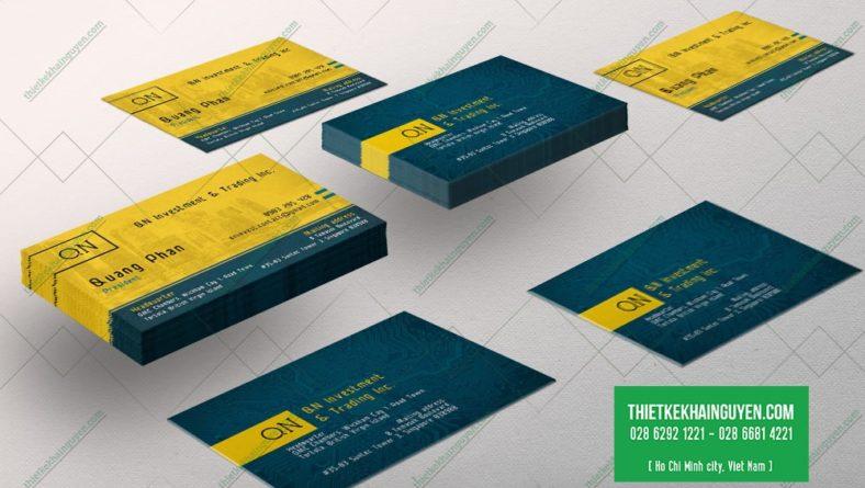 Mẫu thiết kế name card công ty QN Investment Tranding